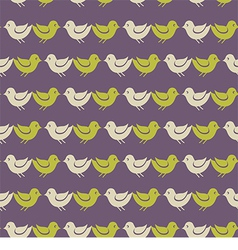 bird pattern vector image