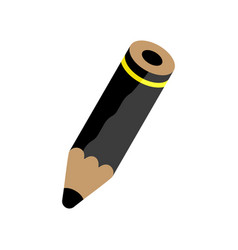 black pencil vector image