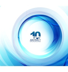 blue swirl abstract background vector image