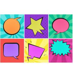 bright colorful retro comic speech bubbles vector image