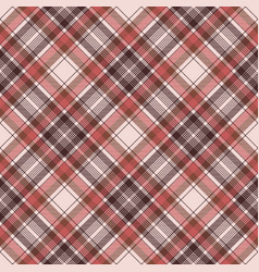 Brown traditional plaid fabric texture seamless vector