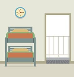 Bunk Bed With An Open Door vector image