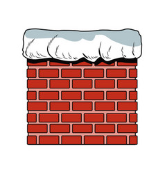 Chimney in bricks vector
