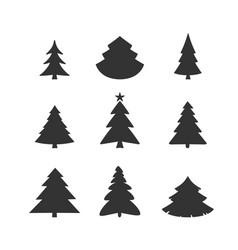 christmas tree icon set vector image