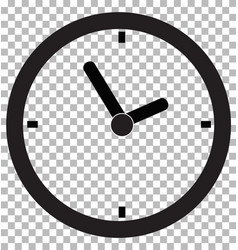 clock icon transparent background clock symbol vector image