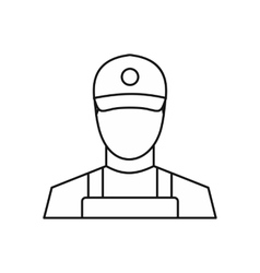 Courier icon outline style vector image