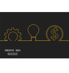 Creative idea concept make money vector image