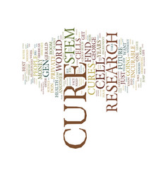 Cure text background word cloud concept vector