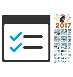 Done Items Calendar Page Flat Icon With vector
