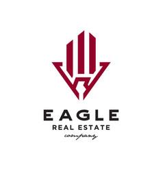 eagle real estate logo vector image