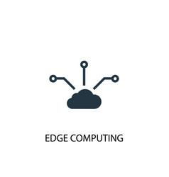 Edge computing icon simple element vector