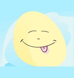 emoji face with small closed eyes and its tongue vector image