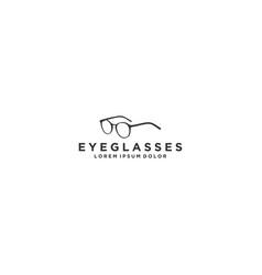 Eyeglasses logo design - modern simple and clean vector