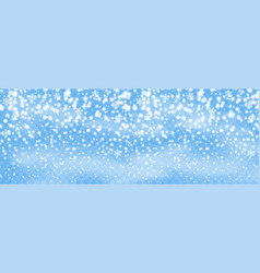 falling snowflakes flakes on isolated overlay vector image