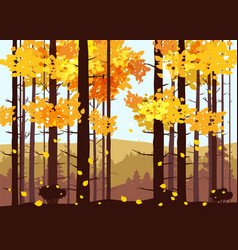 forest mountains silhouettes of pine trees firs vector image