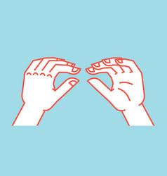 Gesture lizard sign stylized hand for geek hand vector