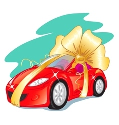 Gift car vector image