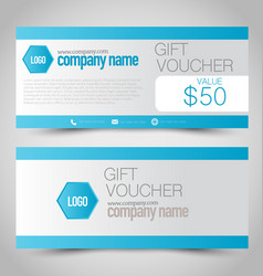 Gift card voucher business banner royalty free vector image gift card voucher business banner vector image colourmoves