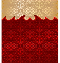 Gold and red floral background vector image
