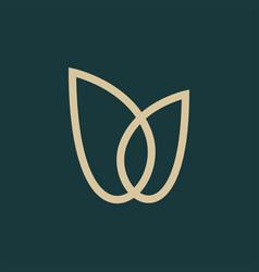 gold tulip logo icon vector image