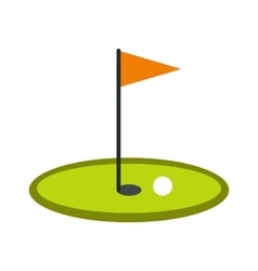 Golf flag icon vector