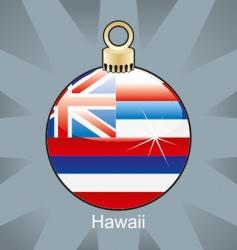 Hawaii flag on bulb vector