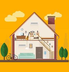 House interior vector