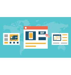 Internet order and delivery vector