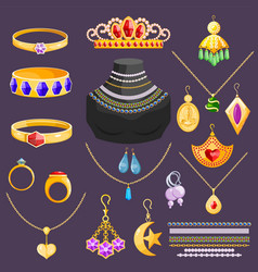 Jewelry jewellery gold bracelet necklace vector