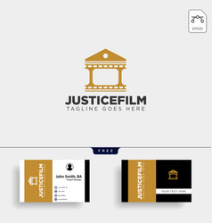 justice cinema home film simple logo template vector image