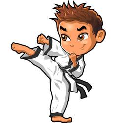 Karate martial arts tae kwon do dojo clipart vector