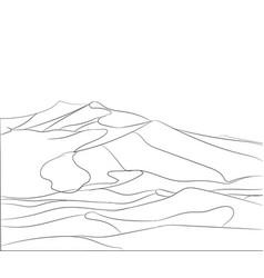 Landscape mountains lines vector