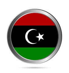 Libya flag button vector image