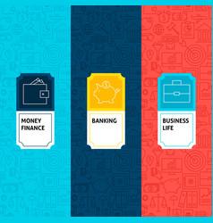 line finance patterns set vector image
