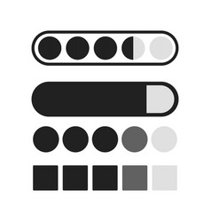 Loading process icons set download and upload vector