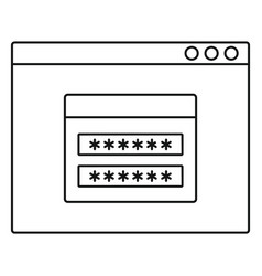 Login account icon outline style vector