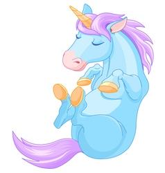 Magic Unicorn is Sleeping vector image