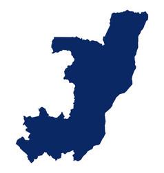 map congo in blue colour vector image