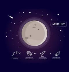 Mercury infographic in universe concept vector