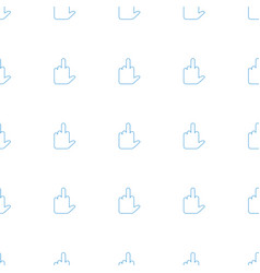 middle finger icon pattern seamless white vector image