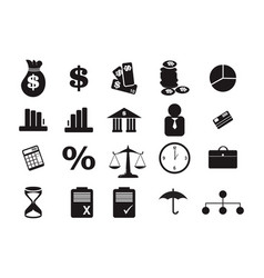 money financial marketing law business black icon vector image