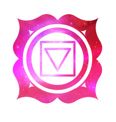 Muladhara chakra with outer space vector
