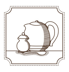 natural tea drink vector image