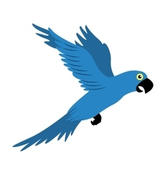 parrot blue flying isolated icon vector image