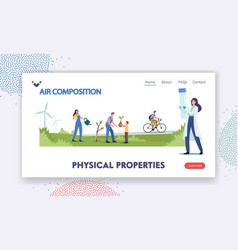 Physical properties landing page template vector