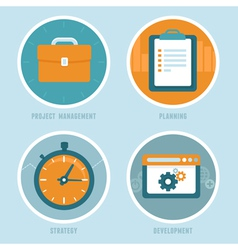 Project management concepts in flat style vector