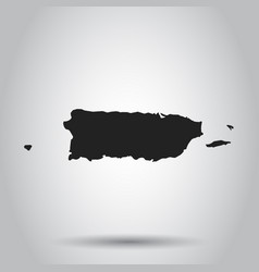 puerto rico map black icon on white background vector image