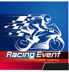 Racing event vector