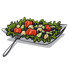reek salad with tomatoes vector image