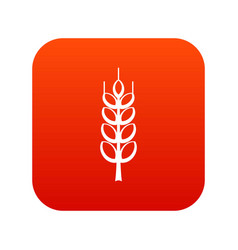 Ripe spike icon digital red vector
